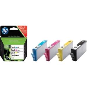 produkt-foto van 'HP 364 - sd534ee, combi-pack, zwart + 3x kleur'