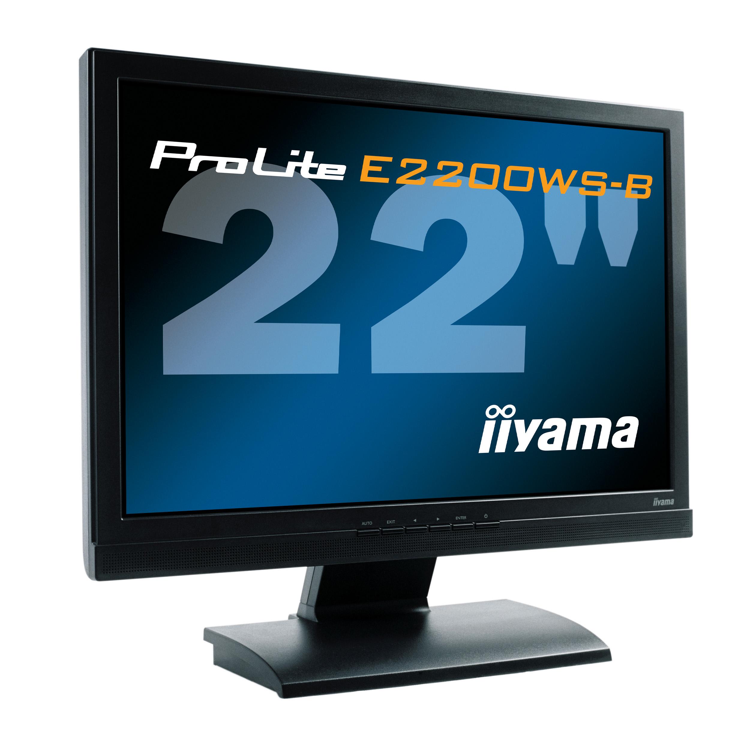 """produkt-foto van 'IIyama 22"""" TFT scherm (ple2200ws-b1 - zwart)'"""