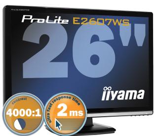 "produkt-foto van 'IIyama 26"" TFT scherm (zwart - 2ms - full-hd=1920x1200)'"