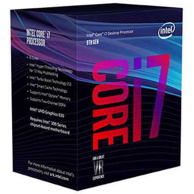 produkt-foto van 'Intel Core-i7-8700-3,2g, cpu-fan, ddr4-8gb & Asrock h310m-hdv'