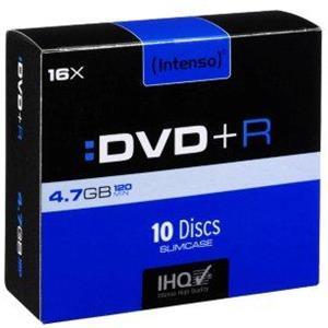 produkt-foto van 'Intenso DVD-R - 4.7gb, 120min, 4x, per 10 dvd's'