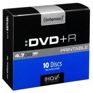 produkt-foto van 'Intenso DVD+R - 4.7gb, 120min, 16x, printable, per 10 dvd's'