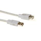 produkt-foto van 'Verlengkabel USB 2.0 - type A, lengte 1,8m, wit'