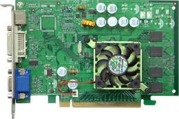 produkt-foto van 'Jetway Geforce 7300gs (PCI-Express - 256mb - DVI-TV-out)'