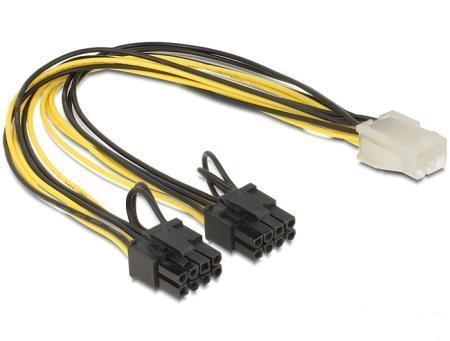 produkt-foto van 'Voedingskabel - Splitter PCIe 6p -> 2x EPS 6+2p, ong. 30cm'