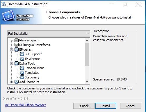 produkt-foto van 'Installatie - DreamMail 4 - geschikt voor POP accounts, dus ook ZIGGO'