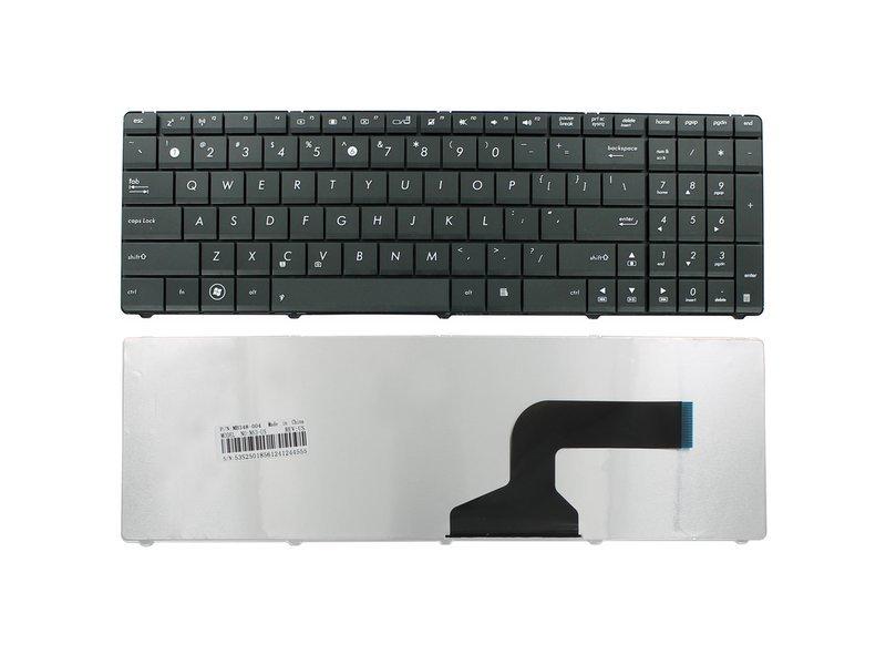 produkt-foto van 'Laptop Toetsenbord - us 104 toetsen, zwart, qwerty, voor o.a. de ASUS k73sj'