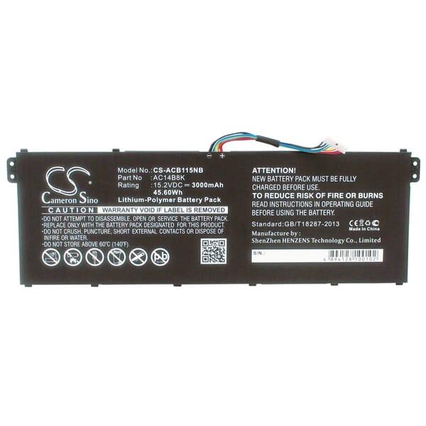 produkt-foto van 'Laptop Accu - 14,8-15,2v, 3,300mah, 46wh, voor acer laptops - AC011353/AC14B18K'