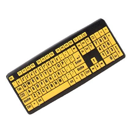 produkt-foto van 'SiYa Toetsenbord (grote letters - hoog contrast=zwart/geel)'
