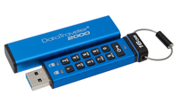 produkt-foto van 'Kingston 32gb - usb 3.0, DataTraveler, dt2000, encrypted + toetsenbord, blauw'