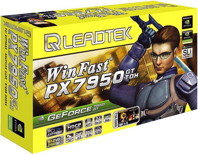 produkt-foto van 'Leadtek 7950gt - 256m (pci-e 16x - dvi/tv)'