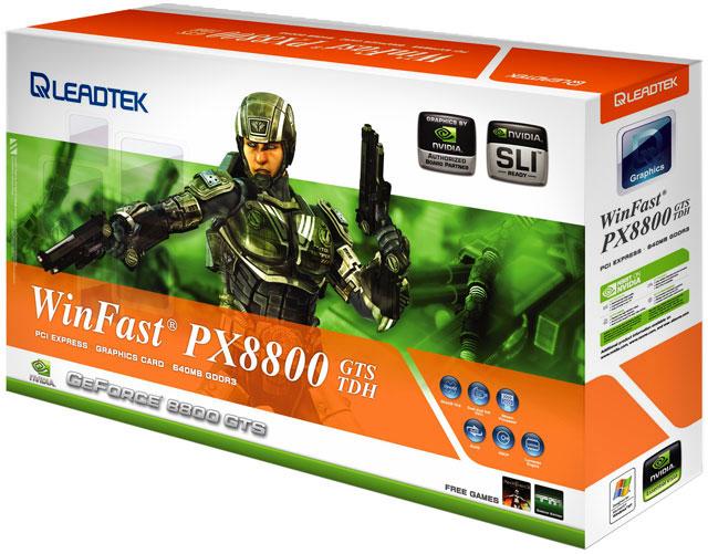 produkt-foto van 'Leadtek 8800gts - 640m (pci-e 16x- dvi/tv)'