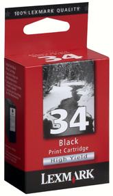 produkt-foto van 'Lexmark 34 - 018c0034e/34, zwart'