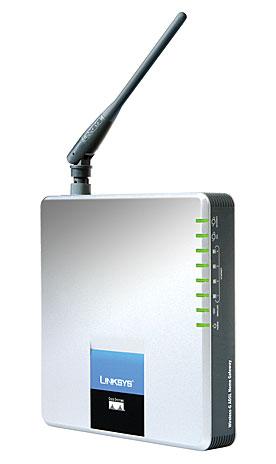 produkt-foto van 'Linksys Wireless ADSL AnnexB Router (wifi-11g - isdn)'