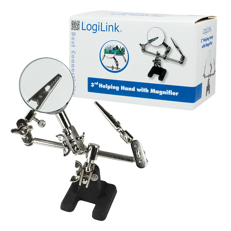 produkt-foto van 'LogiLink Reparatie Tool - 3e hand + vergrootglas'