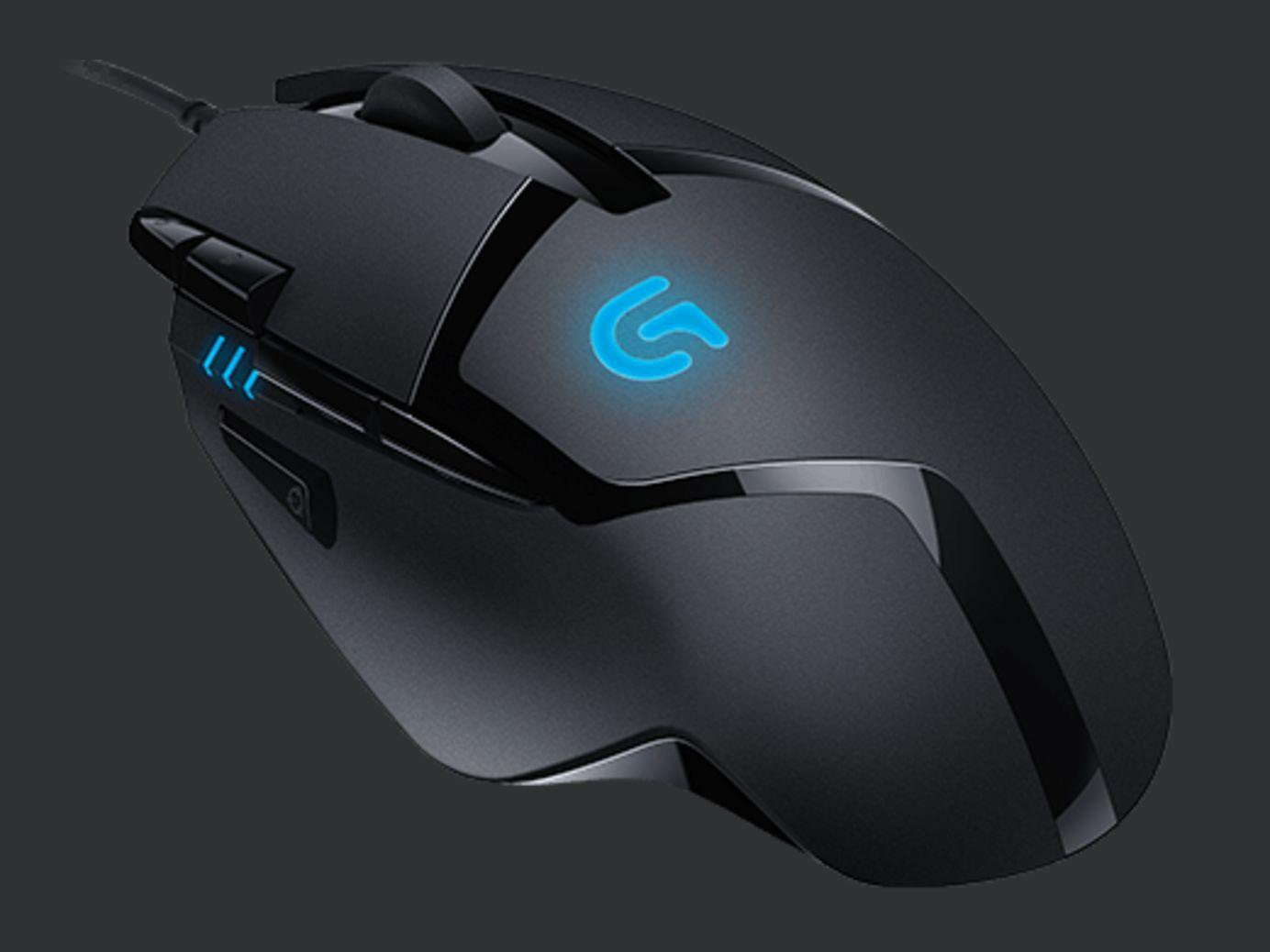 produkt-foto van 'Logitech Gaming Muis - g402 Hyperion Fury, zwart, laser, 7 knoppen'