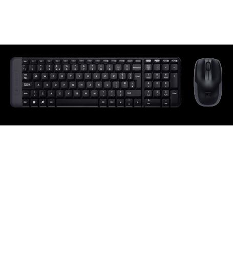 produkt-foto van 'Logitech Desktop - mk220, zwart, draadloos 2,4ghz, usb'