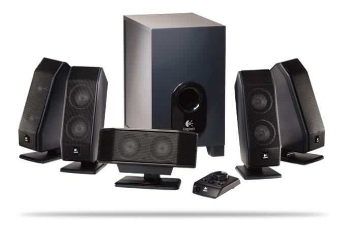 produkt-foto van 'Logitech speakerset 5.1 (x-540 - zwart - fdd2)'