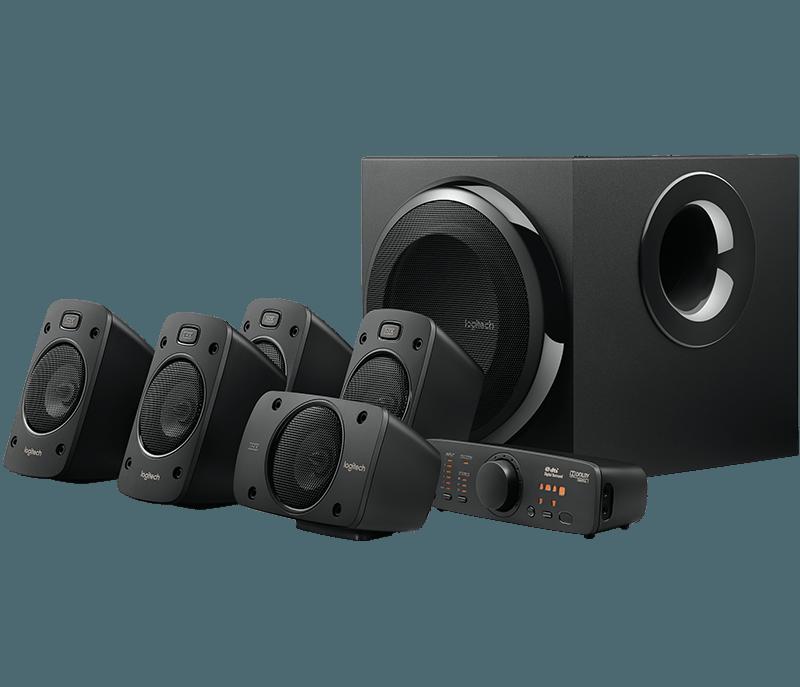 produkt-foto van 'Logitech Speakerset - z-906, 5.1 THX, 1.2w rms, zwart'
