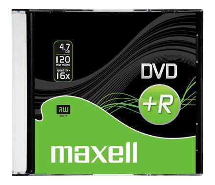 produkt-foto van 'Maxell DVD+R - 4.7gb, 16x, per 5 dvd's'