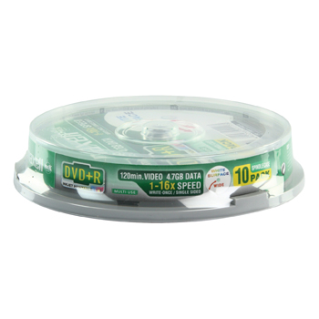 produkt-foto van 'Maxell DVD+R - 4.7gb, printable, 16x, spindle 10 dvd's'