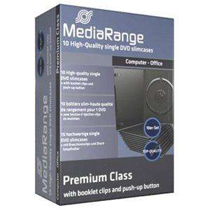 produkt-foto van 'MediaRange DVD-doosje - enkel, dun, zwart, 10 doosjes'