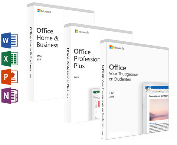 produkt-foto van 'MicroSoft Office 2019 Pro NL - voor 1 pc, download, certificaat'
