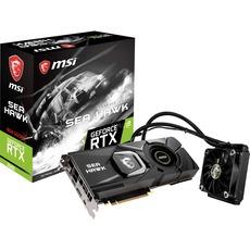 produkt-foto van 'MSI Geforce video-kaart - RTX 2080 Sea Hawk X 8gb,pci-e, hdmi, 3x dp'