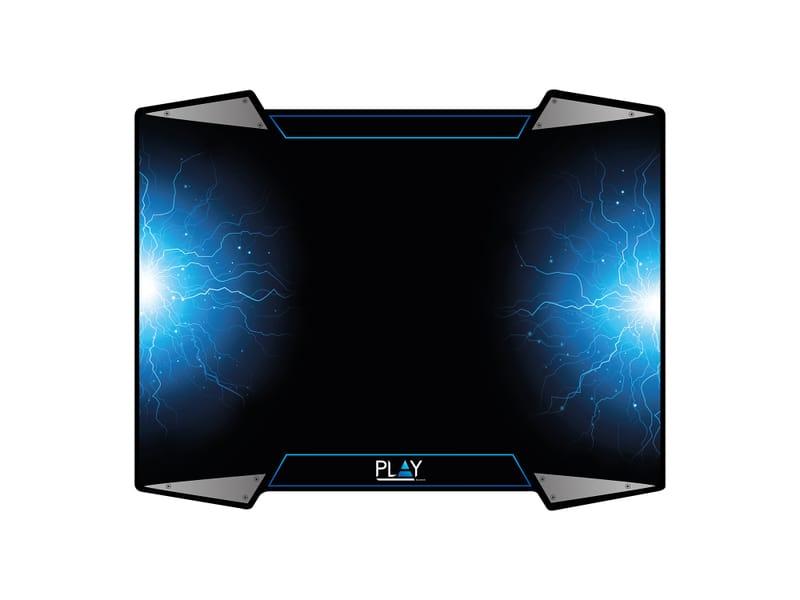 produkt-foto van 'Muismat - gaming, zwart/blauw, oprolbaar, groot formaat'