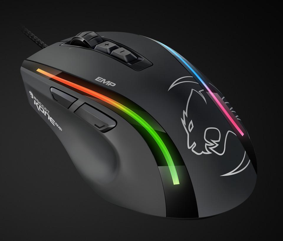 produkt-foto van 'Roccat Gaming muis - Kone EMP, zwart, 6-knoppen, optisch, max. 12 000dpi'