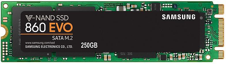 produkt-foto van 'Samsung 860evo ssd - 500gb, m.2, Read=540 MB/s, Write=500 MB/s'