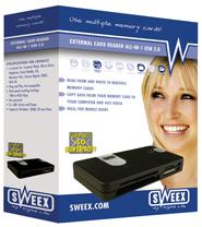 produkt-foto van 'Sweex Cardreader ALLES in 1 (Extern - USB 2.0)'