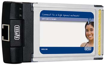 produkt-foto van 'Sweex 10/100m netwerkkaart, pcmcia = pc-card - utp'