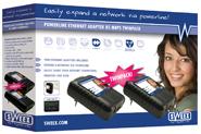 produkt-foto van 'Sweex Netwerk 85m via Stopcontact (UTP - set = 2 adaptors)'