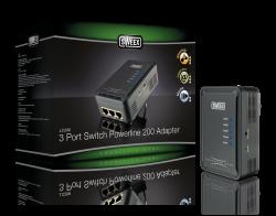 produkt-foto van 'Sweex Netwerk 200m via Stopcontact (3x utp - 1 adaptor)'