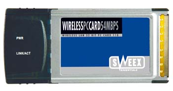 produkt-foto van 'Sweex Wireless kaart 11/54mbit (pcmcia)'