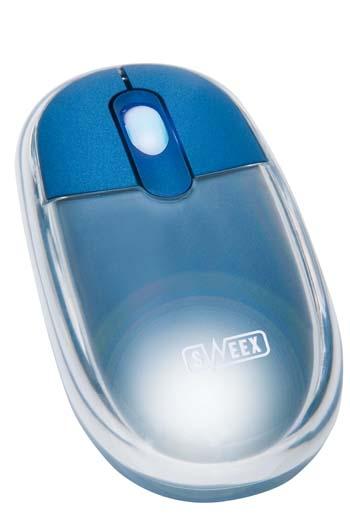 produkt-foto van 'Sweex Optical muis (Neon-Blauw - USB & PS/2)'