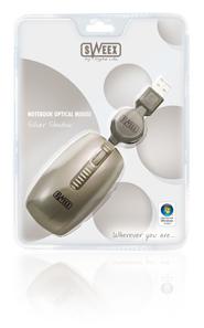 produkt-foto van 'Sweex Notebook Optical muis (Silver Shadow - usb)'