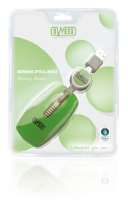 produkt-foto van 'Sweex Notebook Optical muis (Grassy green - usb)'