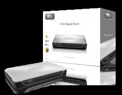 produkt-foto van 'Sweex Switch 10/100/1000mbit (UTP - GigaBit - 5 poorts)'
