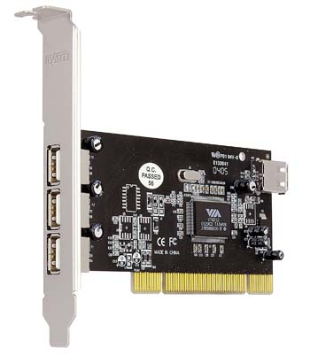 produkt-foto van 'Sweex USB 2.0 kaart (3 +1 poort - VIA- PCI)'