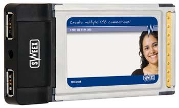 produkt-foto van 'Sweex USB kaart (pcmcia = pc-card - 2x USB 2.0 poort)'