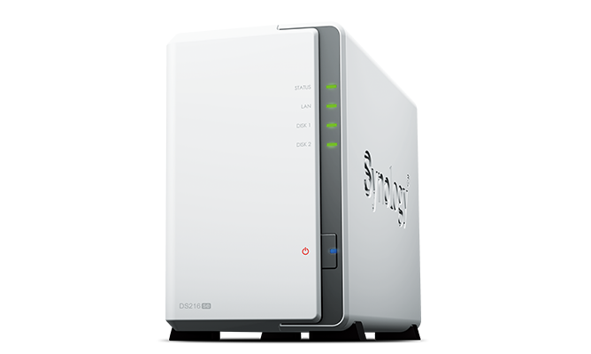 "produkt-foto van 'Synology NAS - ds216se , 2x bay 2.5/3,5"", 2x USB 2, RAID Levels: 0, 1, JBOD'"