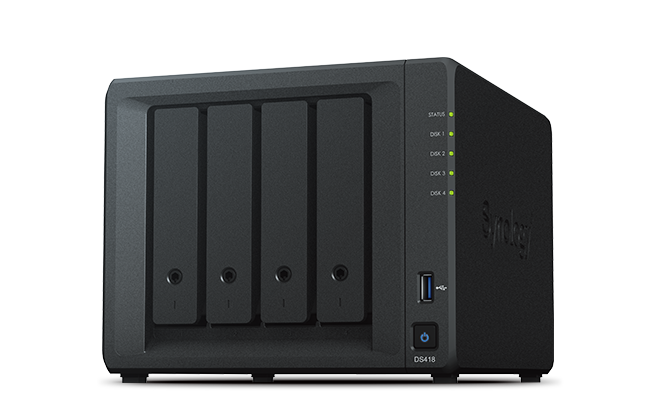 "produkt-foto van 'Synology NAS - ds418 , 4x bay 2.5/3,5"", 2x USB 3, RAID Levels: 0,1,5,6,10,JBOD'"