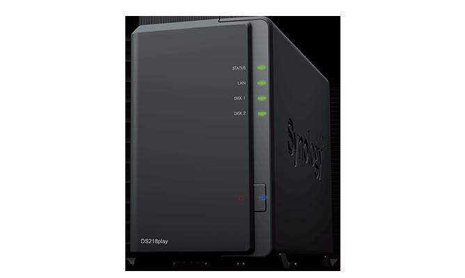 "produkt-foto van 'Synology NAS - ds418play , 4x bay 2.5/3,5"", 2x USB 3, RAID: 0,1,5,6,10,JBOD'"