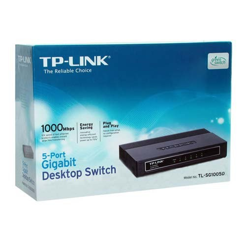 produkt-foto van 'TP-Link switch - 5x gigabit = utp 10/100/1000mbit, unmanaged'