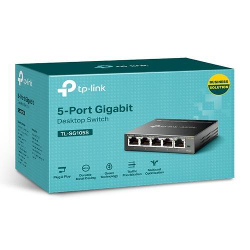 produkt-foto van 'TP-Link switch - 5x gigabit = utp 10/100/1000mbit, unmanaged, igmp snoop'