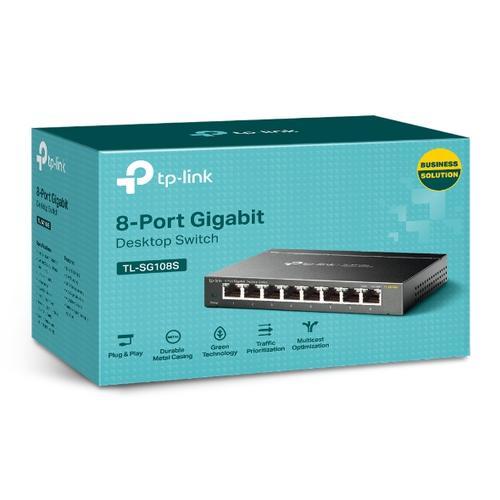 produkt-foto van 'TP-Link switch - 8x gigabit = utp 10/100/1000mbit, unmanaged, igmp snoop'