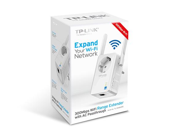 produkt-foto van 'TP-Link Wireless Repeater - 300n + UTP aansluiting + stopcontact'