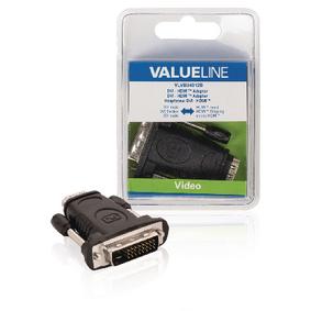 produkt-foto van 'Adapter - DVI-D (m) -> HDMI (m), valueline'